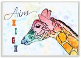 Watercolors Aim High Giraffe