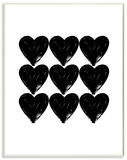Hearts Black and White Glam
