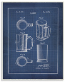 Vintage Beer Mug Blueprint