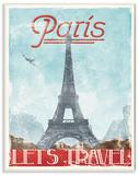 Lets Travel to Paris Vintage