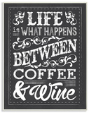 Life  Between Coffee and Wine Chalk