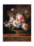 Fleurs Dans un Vase de Porceleine Bleue  1780