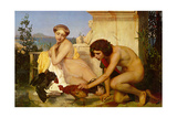 Young Greeks at a Cock Fight  1846 (Jeunes Grecs Faisant Battre des Coqs)