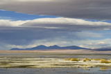 View of hotsprings and saltlake habitat  Atacama Desert  Bolivia