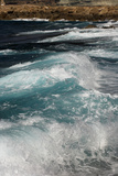Waves crashing to shore  Coral Bay area  Cyprus