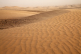 View of desert sand dunes with windblown sand  Sahara  Morocco  may