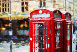 Phone Booths II - In the Style of Oil Painting