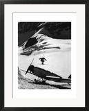 Ski Jump over a Propeller Plane  1935