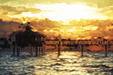 Fishing Pier - In the Style of Oil Painting