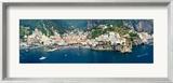 Aerial View of Towns  Amalfi  Atrani  Amalfi Coast  Salerno  Campania  Italy