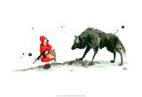 Le petit chaperon rouge Reproduction d'art par Lora Zombie