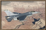 F-16C Fighting Falcon Flying over the Grand Canyon  Arizona