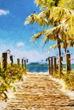 Path to the Beach II - In the Style of Oil Painting