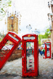 Phone Booths - In the Style of Oil Painting