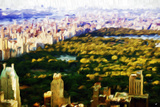 Central Park Skyline V - In the Style of Oil Painting