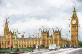 Westminster Palace - In the Style of Oil Painting