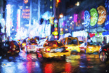 Taxis Night - In the Style of Oil Painting