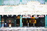 Coney Island Subway - In the Style of Oil Painting
