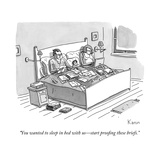 """""""You wanted to sleep in bed with us—start proofing these briefs"""" - New Yorker Cartoon"""