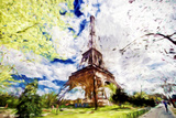 Eiffel Colors - In the Style of Oil Painting