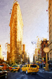 The Flatiron Building - In the Style of Oil Painting