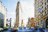 Flatiron Building III - In the Style of Oil Painting
