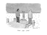 """Total    yoga    freak"" - New Yorker Cartoon"