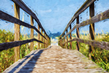 Way to the Beach II - In the Style of Oil Painting
