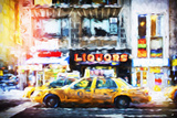 Liquors Taxi - In the Style of Oil Painting