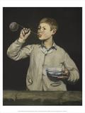 Boy Blowing Smoke Bubbles  1867-9