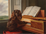 Portrait of an Extraordinary Musical Dog  1805