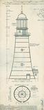 Lighthouse Plans II Reproduction d'art par The Vintage Collection