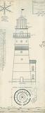 Lighthouse Plans III Reproduction d'art par The Vintage Collection