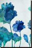 Aqua Blossom Triptych I