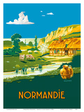 Normandie (Normandy) France - L'ete    L'état (Summer is here) - French State Railways