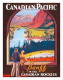 Banff in the Canadian Rockies - Lake Louise  Banff National Park - Canadian Pacific Railway Company
