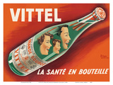 Vittel - La Sante en Bouteille (Bottled Health) - Natural Mineral Water from France