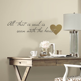 Heart Quote Peel and Stick Wall Decals