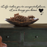 Love Brings You Home Single Sheet Peel and Stick Wall Decals
