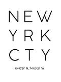 New York Reproduction d'art par Pop Monica