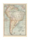 Map of South America Inset Map of the Isthmus of Panama and the Panama Canal