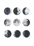 Moon Phases Watercolor I Reproduction d'art par Samantha Ranlet