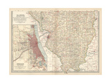 Map of Illinois  Southern Part United States Inset Map of Chicago and Vicinity