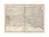 Plate 100 Map of South Dakota United States