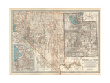 Map of Nevada and Utah United States Inset Map of Salt Lake City and Vicinity