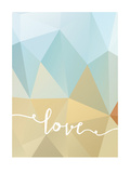 Geometric Love Bluebrown