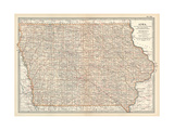 Plate 101 Map of Iowa United States