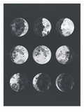 Moon Phases Watercolor Ii