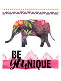 Be Younique-Elephant Reproduction d'art par Amy Brinkman