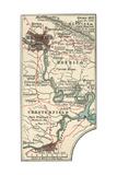 Map Illustrating Battles of the American Civil War Held around the Richmond  Virgina Area